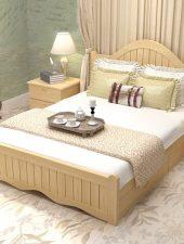 Giường ngủ gỗ tự nhiên phong cách Bắc Âu GHS-982