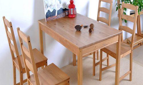 Các mẫu bàn ăn gỗ tự nhiên theo phong cách hiện đại đẹp