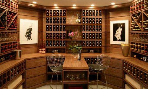 Các mẫu tủ rượu âm tường đẹp cho nhà ở gia đình