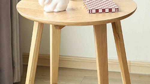 Bàn trà gỗ tự nhiên phòng khách đơn giản mà nổi bật