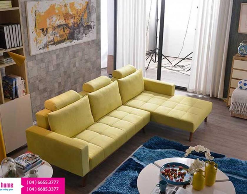 Sofa góc giá rẻ, sofa phòng khách đơn giản