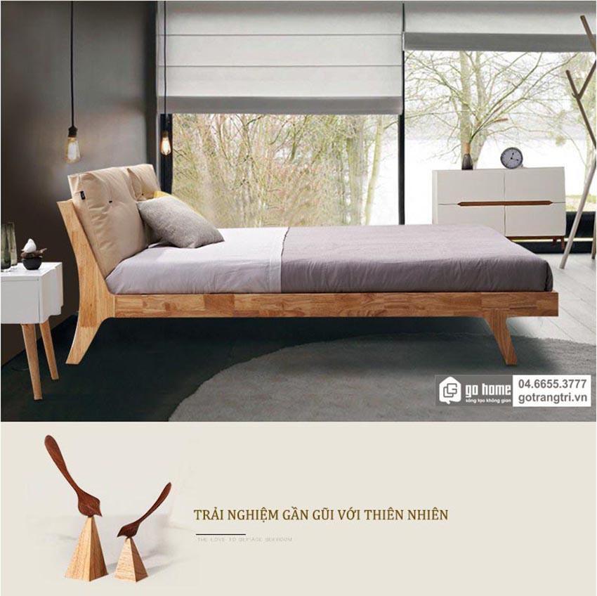 mẫu giường ngủ gỗ tự nhiên