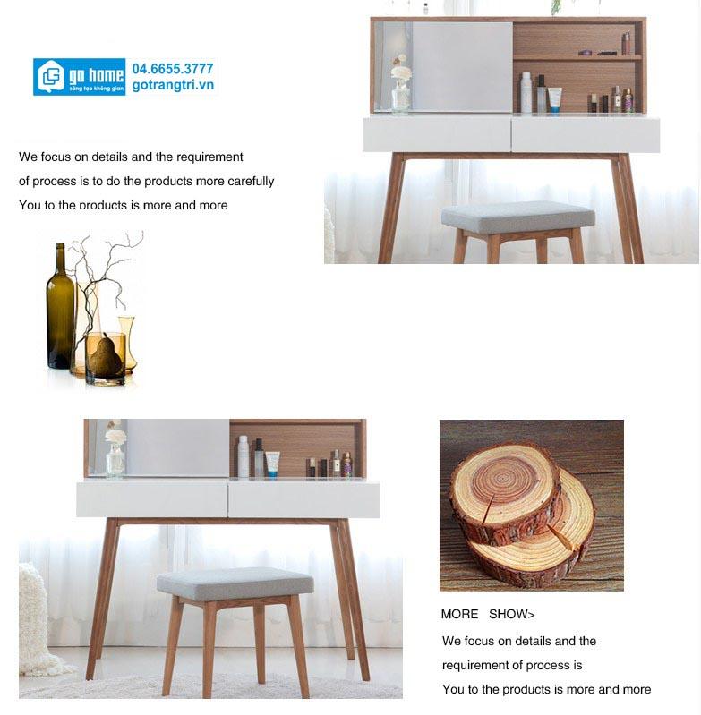 Mẫu bàn phấn gỗ