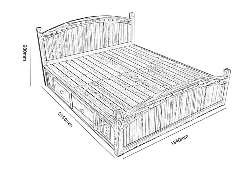 kích thước giường ngủ đẹp hiện đại