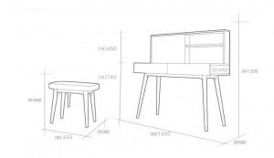 Kích thước bàn trang điểm