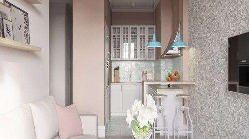 Thiết kế nội thất phòng khách cho căn hộ 30m2