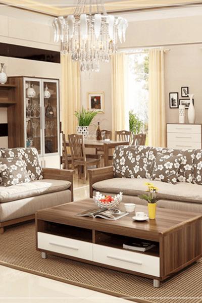 Bộ Ghế Sofa Gỗ đẹp Hiện đại Ghs 8257 Set 3 Mon