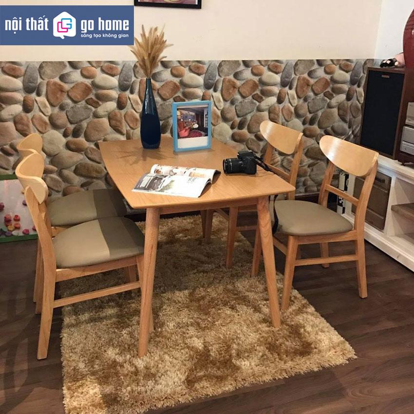 Bộ bàn ăn Bingo Walnut hiện đại GHC -4123