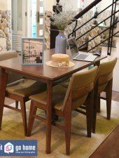 Bộ bàn ăn Kudo Edit Walnut hiện đại GHC-4117