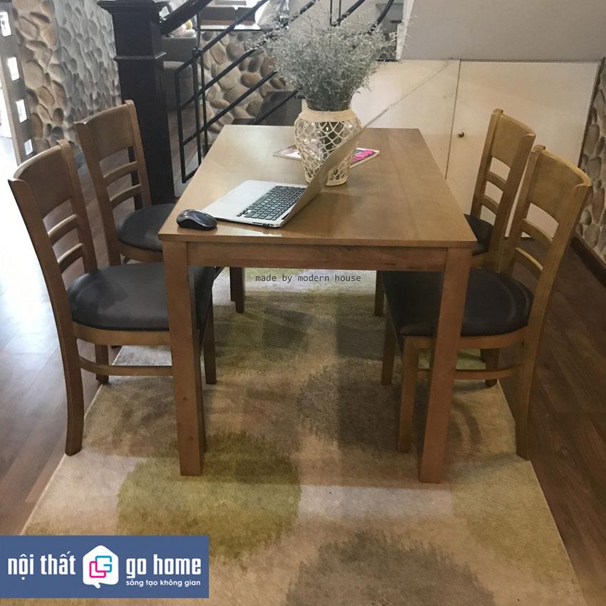 Chân gỗ cao su, mặt bàn MDF sơn PU trắng Kích thước bàn : Dài 1150 mm x Rộng 750 mm X Cao 740 mm