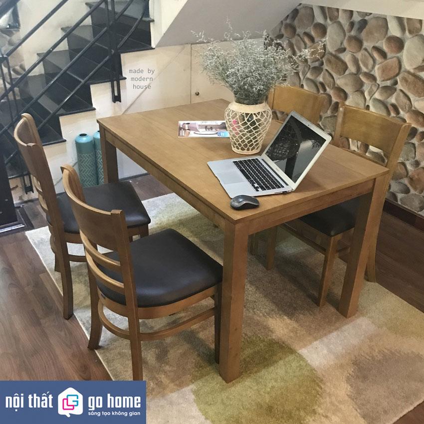 Bộ bàn ăn Mostar GHC-4120của Nội thất GO Home được thiết kế với 3 tông màu trắng, tự nhiên và màu antique