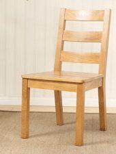 Ghế gỗ sồi Mỹ 3 nan mặt gỗ GHC-710