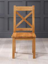 Ghế sồi Mỹ lưng X mặt gỗ GHC-707
