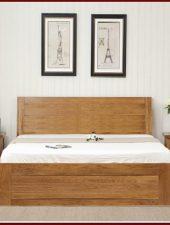 Giường ngủ gỗ sồi xuất khẩu Châu Âu GHC-924