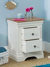 TAB đầu giường gỗ sồi phun sơn trắng xuất khẩu GHC-501