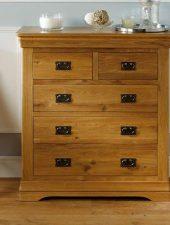 Tủ gỗ 5 ngăn gỗ sồi Mỹ xuất Châu Âu GHC- 509