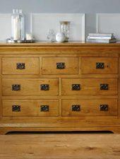 Tủ gỗ 7 ngăn gỗ sồi Mỹ hiện đại GHC-510