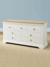 Tủ ngăn kéo gỗ sồi sơn trắng xuất khẩu GHC-502