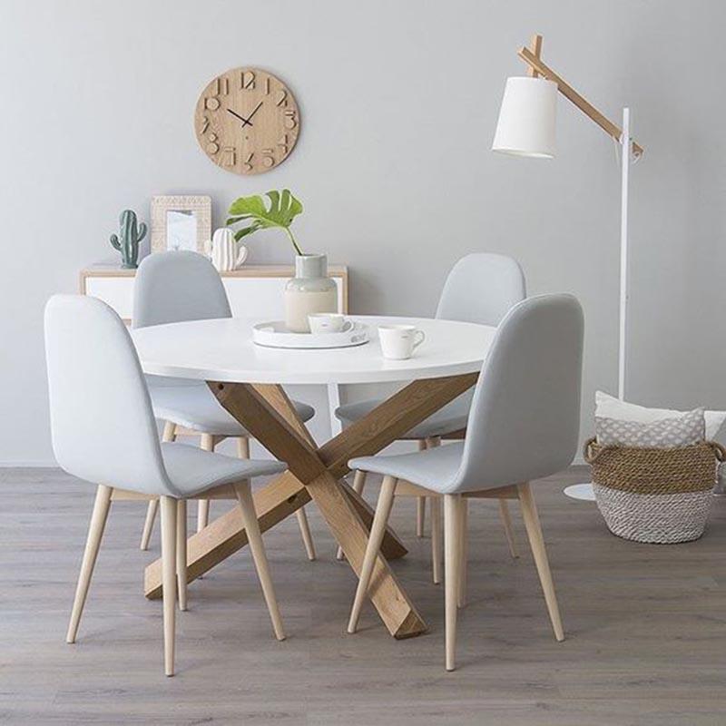 Màu sắc của mẫu bàn ăn tròn gỗ sồiGHC-427: