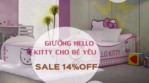 Giường ngủ Hello Kitty đáng yêu cho bé với giá cực ưu đãi.