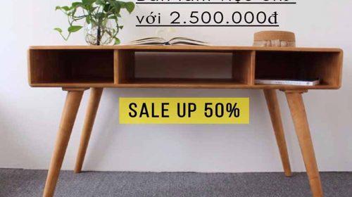 Ưu đãi tháng 10: giảm giá lớn với mẫu bàn làm việc hiện đại tại Go Home