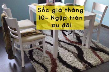 ⚡ Ưu đãi tháng 10, giảm giá sốc với bộ bàn ăn 4 ghế hiện đại tại Go Home