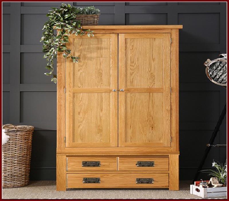 Vì sao tủ quần áo 2 cánh gỗ tự nhiên lại được lựa chọn?