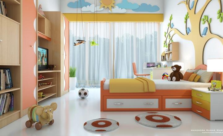 Các chuyên gia bật mí cách trang trí nội thất phòng ngủ cho trẻ để trẻ luôn khỏe mạnh và hạnh phúc