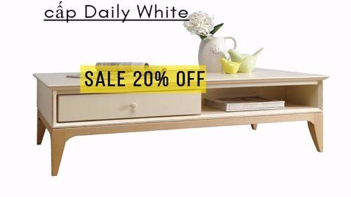Ưu đãi tháng 9: giảm giá 20% mẫu bàn trà cao cấp Daily White Jang In tại Adayroi