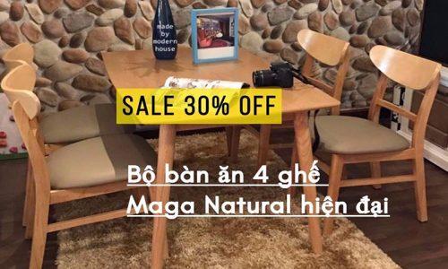 ⚡ Ưu đãi tháng 9, giảm giá 30% bộ bàn ăn Mango 4 ghế hiện đại tại GO HOME