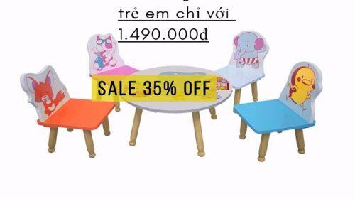 Sốc giá tháng 9, giảm giá 35% bộ bàn ghế trẻ em tình bạn chỉ với 1.490.000đ