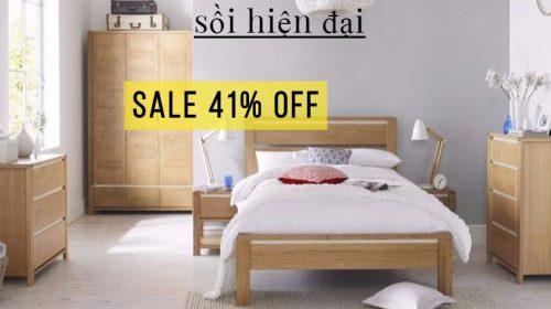 Chia sẻ mã giảm giá 41% mẫu giường ngủ gỗ sồi hiện đại tại Adayroi
