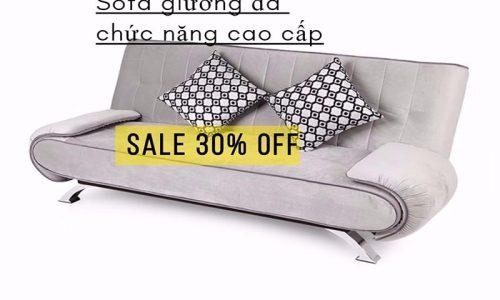 Tiết kiệm 30% khi mua sofa giường Juno xám nhạt cao cấp tại Adayroi với giá cực ưu đãi