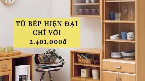 Ưu đãi tháng 9: tủ bếp Big One hiện đại 56,6 x 29,4 x 122,7cm chỉ với 2.401.000đ