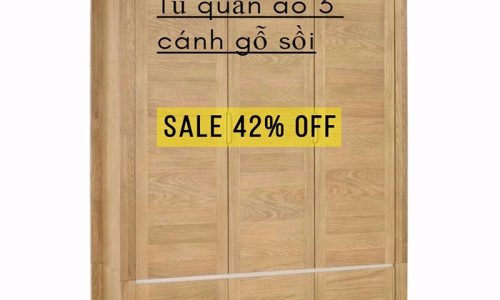 Tiết kiệm 42% khi mua tủ quần áo 3 cánh gỗ sồi cao cấp với giá cực ưu đãi.