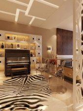 Vách ngăn gỗ trang trí phòng khách đẹp GHO-523