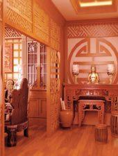 Vách ngăn gỗ phòng thờ đẹp GHO-532