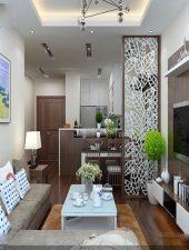 Vách ngăn gỗ phòng khách và bếp GHO-547
