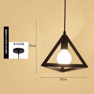 Đèn Trang Trí Hình Khối – GHO-214-tam giác 1