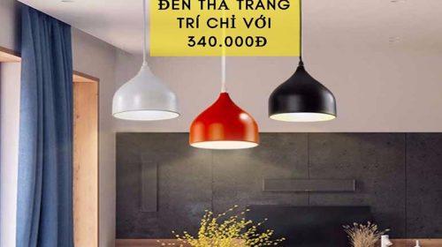 Sở hữu ngay mẫu đèn thả trang trí độc đáo chỉ với 340.000đ