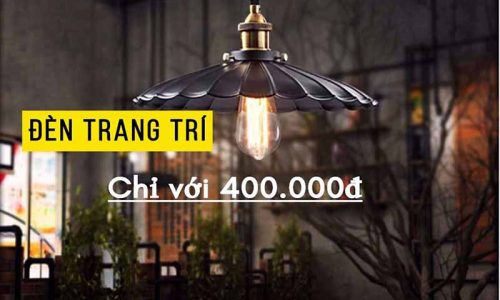 Chỉ với 400.000đ sở hữu ngay mẫu đèn trần trang trí độc đáo chỉ có tại Go Home
