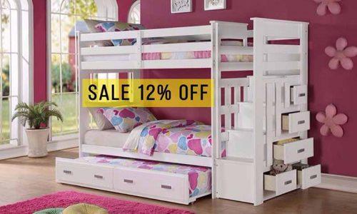 Mẹ mua giường tầng đẹp cho bé lớn, bé nhỏ ngủ riêng với giá cực ưu đãi