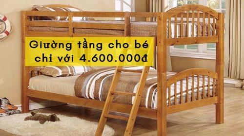 Sở hữu ngay mẫu giường tầng cho bé với giá cực ưu đãi.