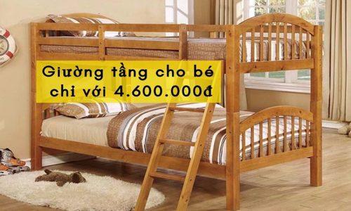 Sở hữu ngay mẫu giường tầng cho bé với giá cực ưu đãi