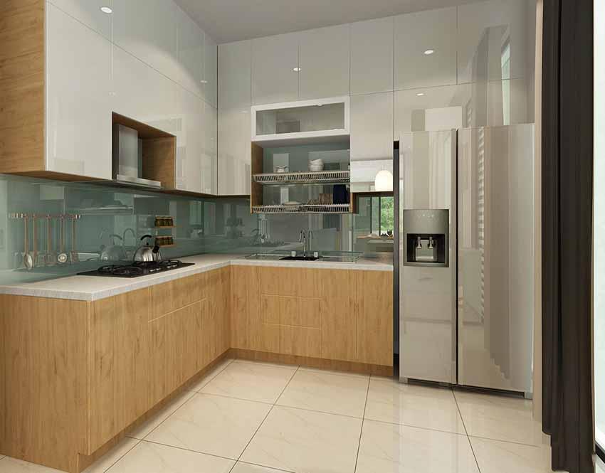 Bếp với đầy đủ những dụng cụ nhà bếp cần thiết