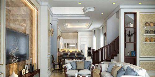 Thiết kế nội thất tân cổ điển căn hộ nhà chị Linh - Đông Anh