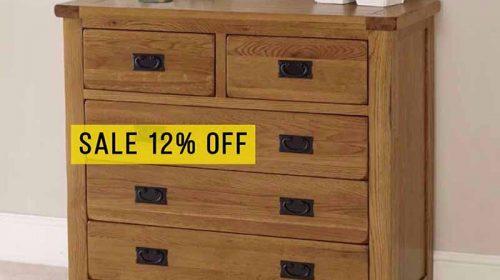 Ưu đãi tháng 10 giảm giá 12% tủ 5 ngăn gỗ sồi cao cấp tại GO HOME