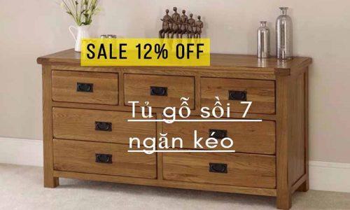 Chia sẻ mã giảm giá 12% mẫu tủ gỗ 7 ngăn kéo hiện đại