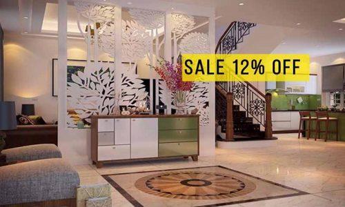 Ưu đãi 20/10 giảm giá 12% với mẫu vách ngăn trang trí hiện đại