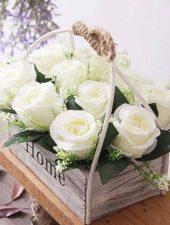 Giỏ hoa giả trang trí đẹp GHS-6204